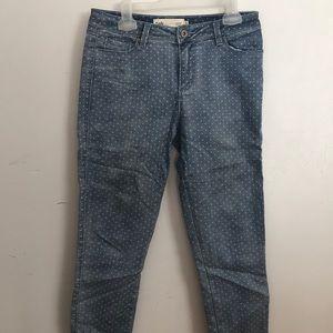 Denim - 2/50$ light blue jeans with polka dots